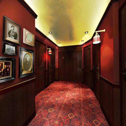 Bespoke wool carpets, Hotel Belmont, Paris