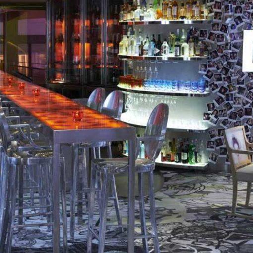 Bespoke wool carpets, Restaurant Le Kong, Paris