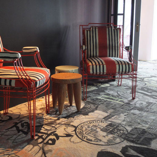Bespoke wool carpets, Restaurant, Le Kong, Paris