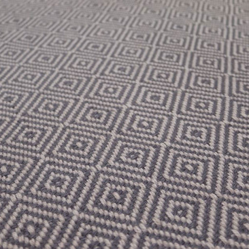 Diamond flatweave stair runners Collection, Graphite