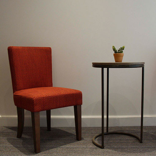 Wool Carpets, Josephine collection with a chair