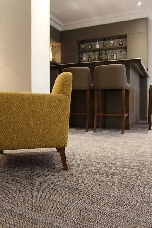 Josephine Grey, wool carpet in a bar