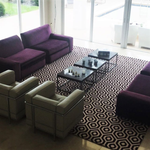 Axminster rugs in a private house
