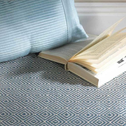 Diamond blue Stair runners with book