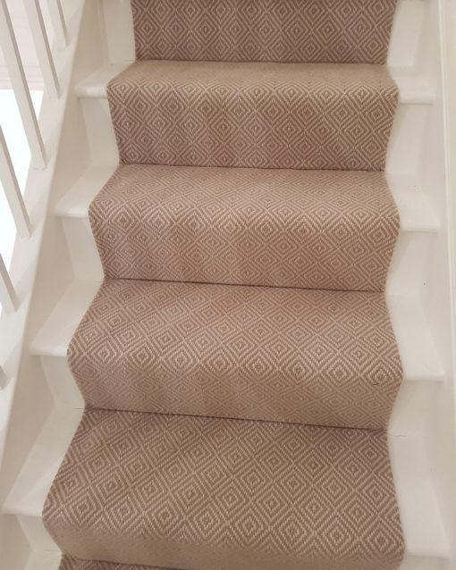 Stair runners, Diamond Flatweave Stone