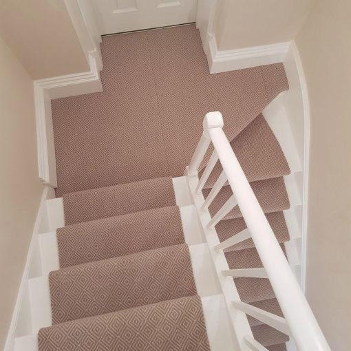 Diamond flatweave Stone, stair runners