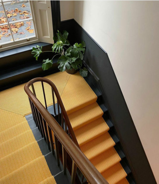 Awesome flatweave stair runner, Herringbone collection