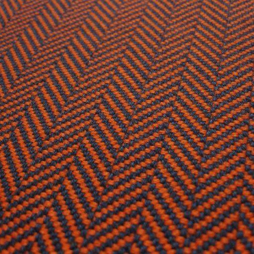 Flatweave stair runner, Herringbone Orange