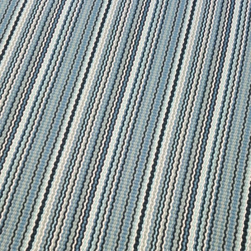 Tapis d'escalier tissé plat, Stripes. Multi Aqua