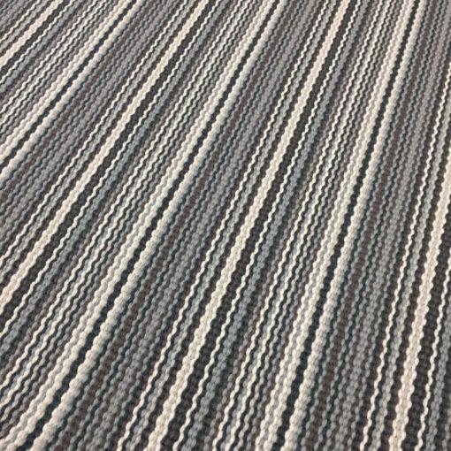 Tapis d'escalier tissé plat, 100% laine, stripes Multi, Grey