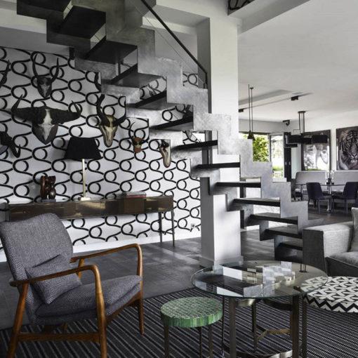 flatweave rugs, PNUK Black in a private house