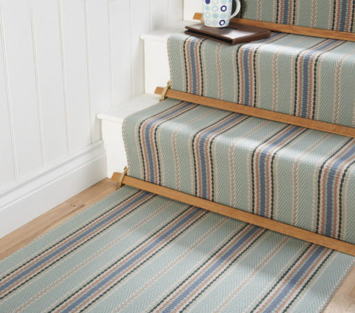 Stair runners Flatweave with stair rods