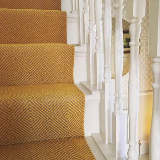 Stair runners, Diamond Flatweave Marigold