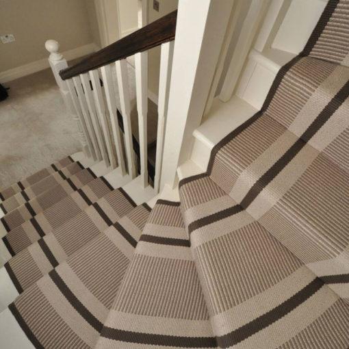 Tapis d'escalier tissé plat, 100% laine PNT25