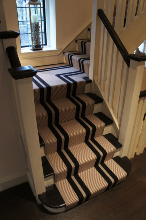 Stair runner with flatweave PNT16 black