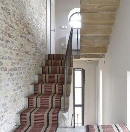 Tapis d'escalier tissé plat, Transat PNT26