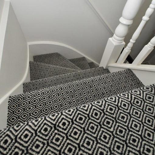 Wool carpet used for stair runners