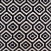 Axminster wool carpet, Large Diamond Black & Ivory