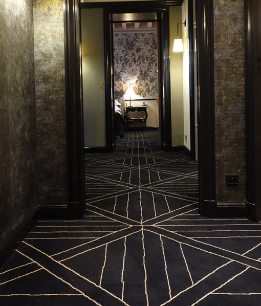 Axminster wool carpet, Parquet Black & Beige