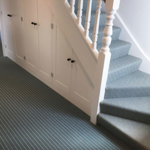 Bespoke stair runners, Claire Dove & Ivory