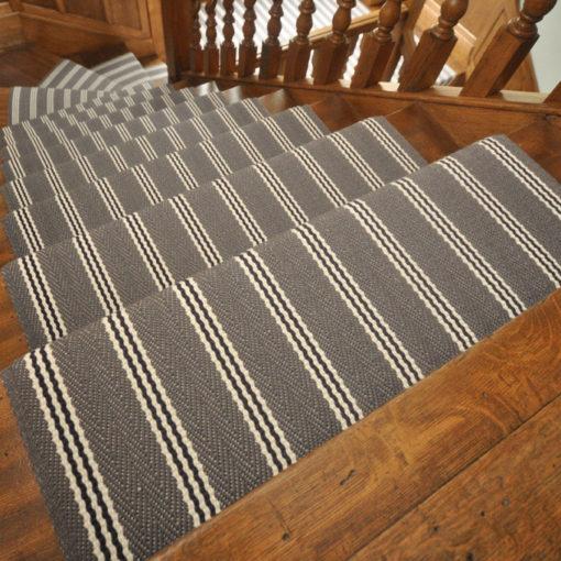 Bespoke stair runners, Stripe Gunmetal