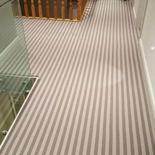Bespoke stair runners, Stripe Nickel & Peeble