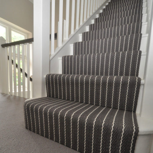 Bespoke stair runners, Stripe Claire collection