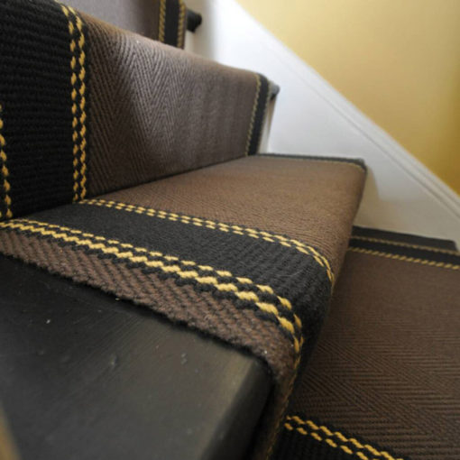 Bespoke stair runners, Special Striped border