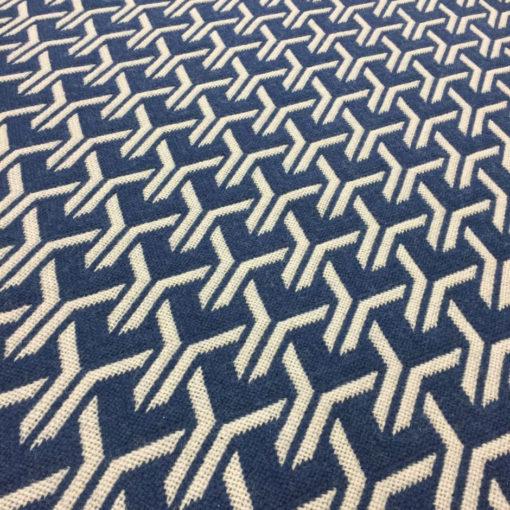 Bespoke stair runners, Trafal Reverse Blue