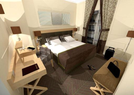 Bespoke wool carpets, Hotel Galileo