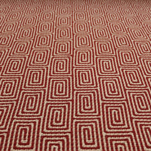 Tapis d'escalier Jacquard Escargot. Red