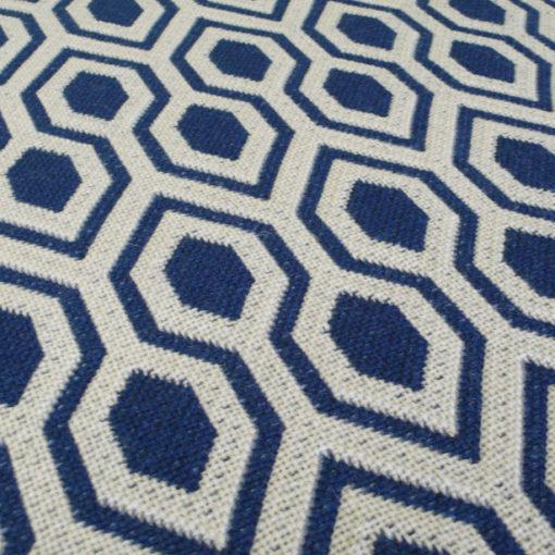 Tapis d'escalier Jacquard Hex. Denim/Dk.Blue Reverse