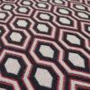 Tapis d'escalier Jacquard Hex. Anthracite/Rouge