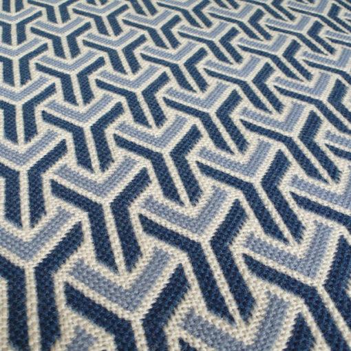 tapis d'escalier, pure laine vierge, Trafal Denim