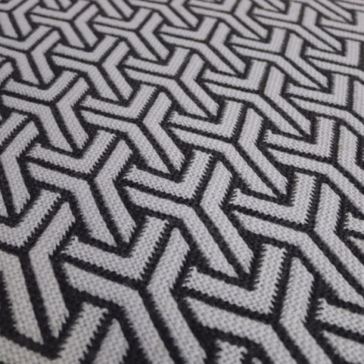 Tapis d'escalier, Pure laine vierge, Trafal Pearl & Anthracite