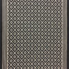 Tapis d'escalier Jacquard, 100% laine,Trellis Border. Black